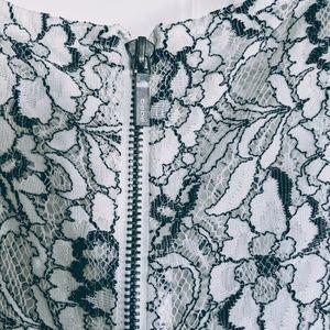 bebe Dresses - Bebe Lace Cocktail Dress with Belt NWOT